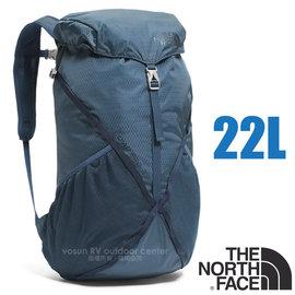 【美國 The North Face】新款 DIAD Pro 超輕量抗撕裂多功能後背包/攻頂包 22L (僅397g_含求生哨)適健行登山/自助旅行/CF05 蔭藍/都會藍