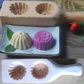 5Cgo~ 七天交貨~43506048435 雕刻菊花紋梅花櫻花月餅模型模具青團包包子麵食
