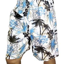 速干沙灘褲男五分褲休閒寬鬆大褲衩海邊游泳 度假印花短褲~潮衣部落格~