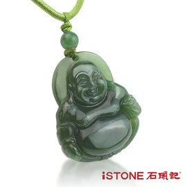 石頭記 彌勒佛碧玉項鍊~護身佛系列^(小^)