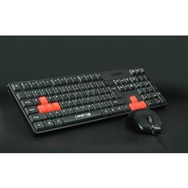 鍵盤鼠標有線鍵盤鼠標套裝USB PS2台式筆記本電腦防水鍵鼠辦公~潮衣部落格~