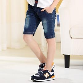 男童牛仔短褲薄款夏裝兒童褲子男孩中褲 休閒褲中大童五分褲潮偏小一碼~潮衣部落格~