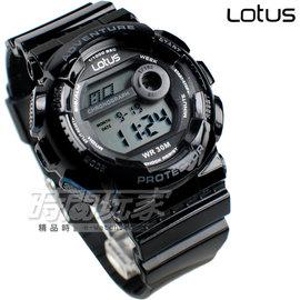 Lotus 純色  休閒錶 多 電子錶 女錶 TP1351L~01黑黑