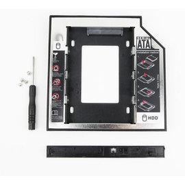 新竹市 筆電NB 2.5吋 SATA3接口 小轉大 SSD固態硬碟 轉換托架/托盤/硬碟支架/轉接架 (帶燈合金9.5mm)