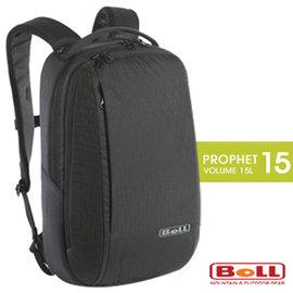 【捷克 BOLL】新款 PROPHET15 超輕量多功能透氣全開式後背包(電腦書包_可13吋筆電)/出差洽公.健行登山.自助旅行 非Deuter_黑 1313007