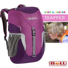 【捷克 BOLL】新款 TRAPPER 多功能抗撕裂透氣兒童後背包16L(安全標誌)/小朋友上學書包/戶外教學.旅遊 非Deuter_紫紅 124400095