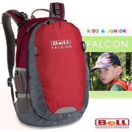 【捷克 BOLL】新款 FALCON 多功能抗撕裂透氣兒童後背包18L(安全標誌)/小朋友上學書包/戶外教學.旅遊 非Deuter_紅 120300032
