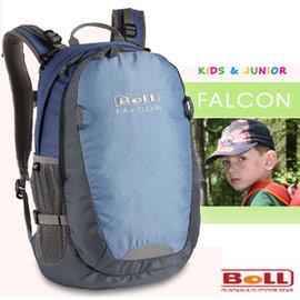 【捷克 BOLL】新款 FALCON 多功能抗撕裂透氣兒童後背包18L(安全標誌)/小朋友上學書包/戶外教學.旅遊 非Deuter_水藍 120200071