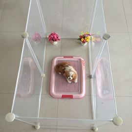 透明塑膠寵物圍欄自由合狗籠子百變多 小窩房子泰迪柵欄~潮衣部落格~