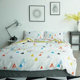 ~PAINT~北歐風格,彩虹帳篷,精梳棉,單人床包,兩用薄被套四件組 A010116140