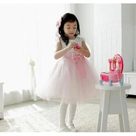 女童禮服兒童婚紗裙禮服女童公主裙演出服淑女花童連衣裙蓬蓬紗裙~潮衣部落格~