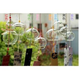 1個畢業 日式江戶和風掛飾車飾門飾櫻花玻璃風鈴送包裝~潮衣部落格~