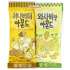【吉嘉食品】韓國 蜂蜜杏仁果(奶油[缺]/芥末)1包35公克45元,韓國進口