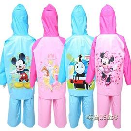 充氣帽檐男女兒童雨衣雨褲分體卡通寶寶幼兒園雨衣套裝
