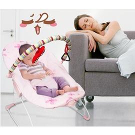 美國BrightStarts嬰兒電動彈跳搖搖椅哄睡搖床搖籃寶寶抖動~潮衣部落格~