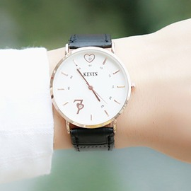 韓國手錶男女學生 簡約防水超薄男女表皮帶情侶手錶女式石英表日~型男部落~