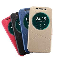 華碩Zenfone 3 ZE520KL 5.2吋/ZE552KL5.5吋手機套 智能休眠皮套 Zenfone3手機殼(磁扣金沙壓紋智能休眠款)