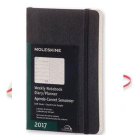 MOLESKINE 2017週記本 12M 軟殼P 黑色^~M072893335