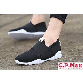 C.P.Max 正韓型男帆布休閒鞋 懶人鞋 皮鞋 繫帶 低筒 牛津鞋 一腳蹬 板鞋 小白鞋