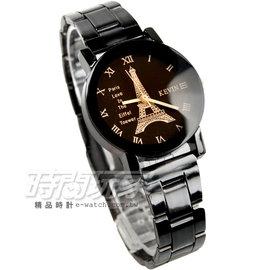 KEVIN 簡單羅馬時刻 鐵塔 腕錶 IP黑電鍍 女款 KV20鐵塔羅小B