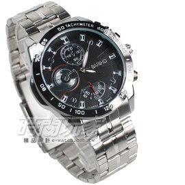 BARIHO 三眼  腕錶 男錶 黑色 BA442黑