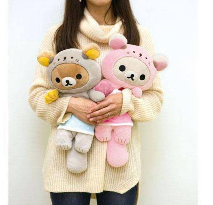 懒懒熊san-x 款 可爱水獭娃娃公仔牛奶熊拉拉熊 (现货在台)