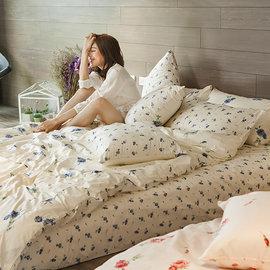 床包兩用被組  雙人~100^%精梳棉~玫果雪酪~藍~ AL~AAL215