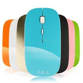 可愛點C1無線滑鼠充電鋰電池超薄無聲省電充電滑鼠光電2.4G~型男部落~