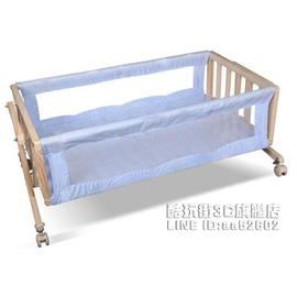 妮卡兔無漆環保搖籃 實木童床寶寶床嬰兒床BB睡籃搖床輕便~型男部落~