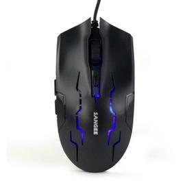 電競USB有線遊戲滑鼠6鍵3速變檔手感極佳遊戲滑鼠~型男部落~