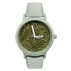 FORREST 綠草系列  感手錶~霧綠色錶框霧綠皮革35 43mm