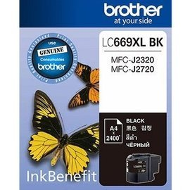 brother J2320 J2370 墨水匣 黑 A4 2400張 LC669XLBK