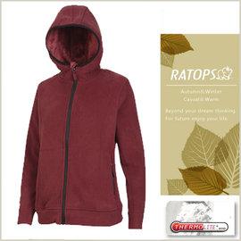 【瑞多仕-RATOPS】女款 Thermolite 推毛防潑水夾克.輕量保暖外套.禦寒外套/ 質輕保暖.舒適透氣.易清洗 / DH6120 牛津紅色 V1