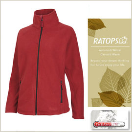 【瑞多仕-RATOPS】女款 Thermolite 推毛防潑水夾克.輕量保暖外套.禦寒外套/ 質輕保暖.舒適透氣.易清洗 / DH6123 玫瑰紅色 V1