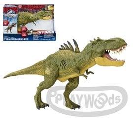 ~Playwoods~ 侏儸紀世界Jurassic World 混種暴龍聲效玩具組 附4號