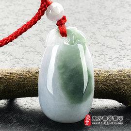 福瓜^(福運連綿^) A貨翡翠花件玉墜^(紫羅蘭油青種帶深綠色^)FW023~產地 緬甸玉