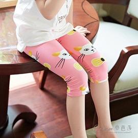 女 打底褲小中大兒童寶寶九分長褲子春秋薄款外穿春裝香港直郵