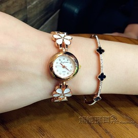 手鏈錶女士韓國潮流 中學生石英錶金屬時裝女錶手錶女簡約休閒
