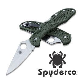 【詮國】Spyderco 蜘蛛 - Delica 墨綠柄折刀  ZDP-189 粉末鋼 -