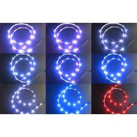 1米燈條 三連發 三彩側發光 跑馬燈 自動變色 三彩跳色 呼吸 爆閃 閃爍 附控制器 72