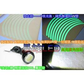 ~晶站LED~ 夜光貼紙 10吋 12吋 ^(綠光^) 無須抗UV燈 吸光貼紙 夜光貼紙