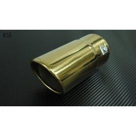 土豪金不鏽鋼合金 排氣管 尾飾管 尾管 排氣管尾段 裝飾管 長15CM 寬:7.5CM 7