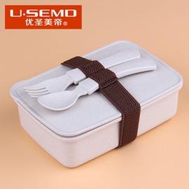 優聖美帝稻殼 盒可微波爐加熱保溫飯盒學生兒童便當盒便當盒 保鮮盒