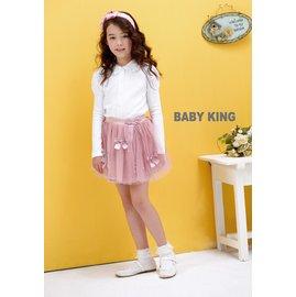 baby king  6251 雷絲領襯衫 白色  85CM~130CM 製