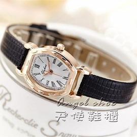 女錶復古女生手錶女學生 簡約 潮流小巧休閒皮帶石英錶