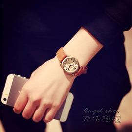 韓國大牌 潮流復古女士手錶女款學生 簡約皮帶小錶盤石英錶
