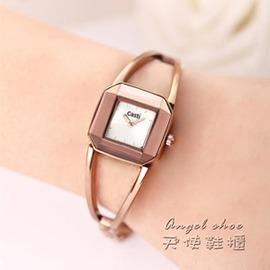 韓國防水女錶 潮流女士手鏈 簡約石英錶學生復古手錶女