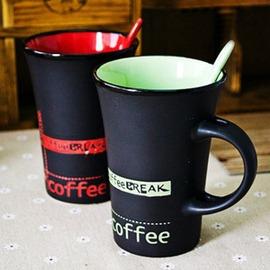 星巴克陶瓷馬克杯辦公牛奶咖啡杯帶蓋勺簡約喝水大容量水杯子