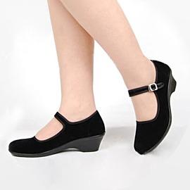 紅色34 布鞋透氣 舞蹈鞋軟底廣場舞跳舞鞋爵士舞鞋健身鞋女鞋