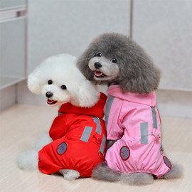 DP雜貨鋪 中小型犬寵物四腳雨衣 貓狗衣服 吉娃娃 博美 馬爾濟斯 比熊